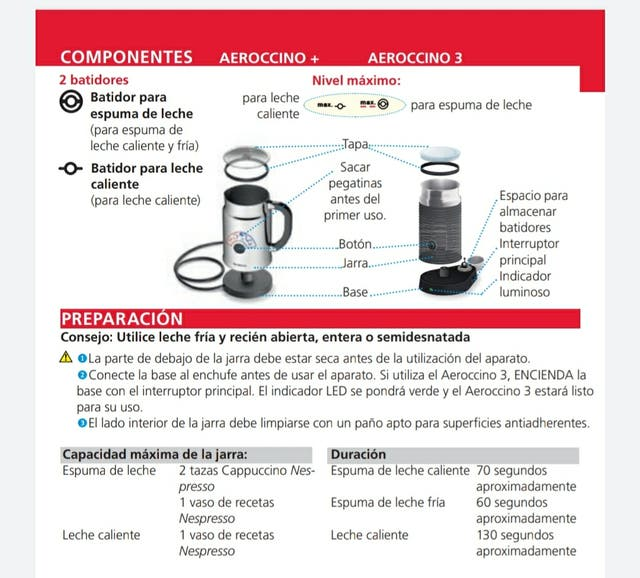 Maquina Nespresso areoccino 3