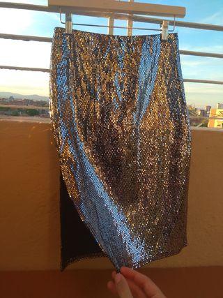 falda strass