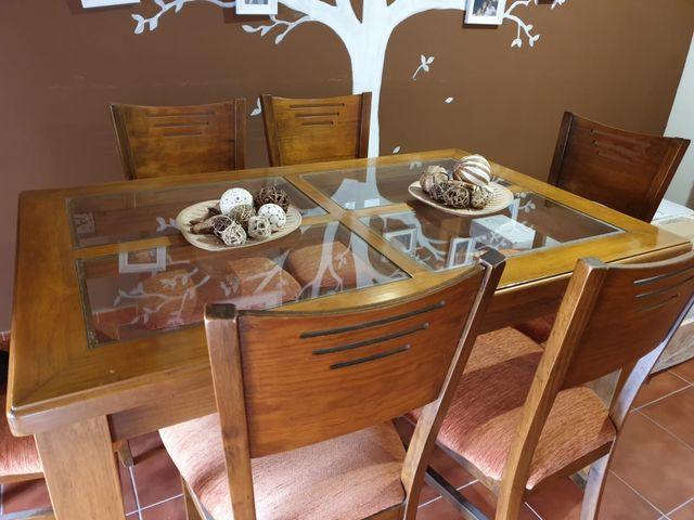 Vendo mesa y sillas comedor de segunda mano por 300 € en El Puerto ...