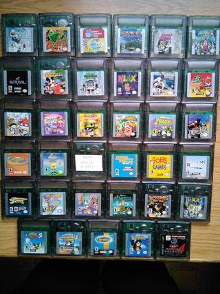 Lote de 35 Juegos Originales para Gameboy Color