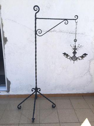 Candelabra hierro artesano