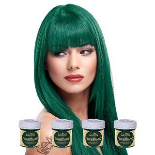 Tinte para Cabello Coloración Pelo Verde Oscuro