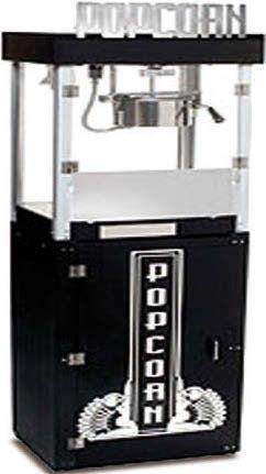 Máquina de palomitas con soporte