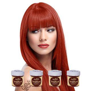 Tinte para Cabello Coloración Pelo Rojo Anaranjado