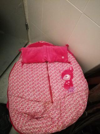Saco Tuc Tuc rosa de carros para silla de paseo