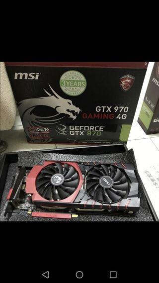 tarjeta grafica MSI Nvidia GeForce gtx 970 4 gb