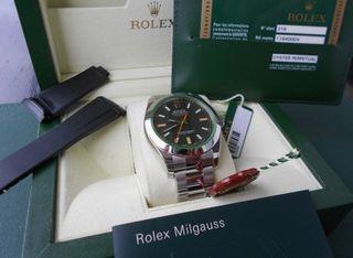 Rolex Milgauss 116400GV dial verde