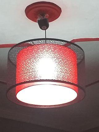 lampara Moderna con verja decorativa.
