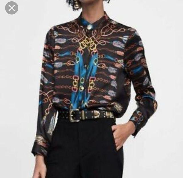tienda oficial apariencia elegante grandes ofertas en moda Camisa o blusa estampado cadenas Zara S de segunda mano por ...