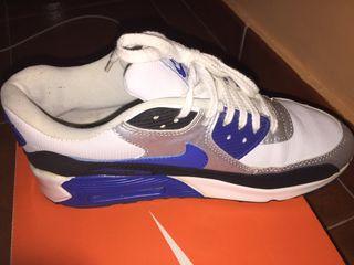 Zapatillas air max azul y blanco