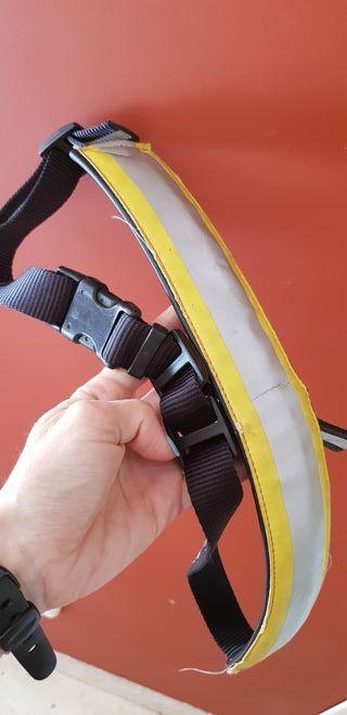 cinturon para perro canicross con reflectante