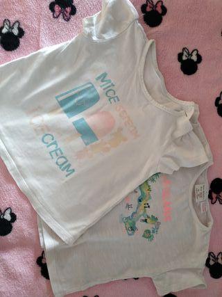 camisetas niña,talla 18 meses