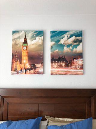 Dos cuadros del Big Ben, Londres