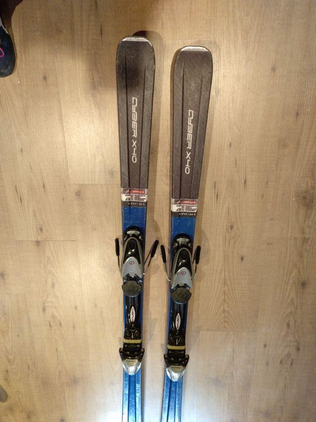 esquís head Cyber x40 con fijaciones