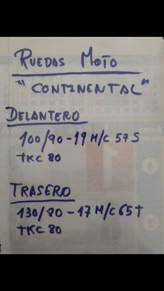 Ruedas de Moto. Continental