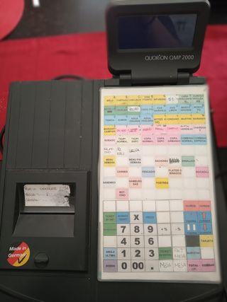 Caja registradora con impresora térmica.
