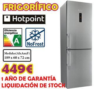 LIQUIDACIÓN FRIGORIFICO INOX HOTPOINT 1,89M A+++