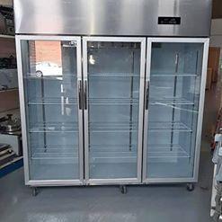 Nevera estatica de 3 puertas refrigerada