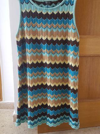 Vestido tricot de algodón T 42