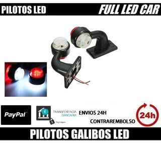 2 PILOTOS GALIBOS LED 12V 24V COLOR ROJO BLANCO CA