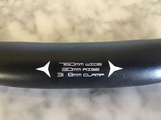 Manillar de bicicleta aleación de aluminio liviano