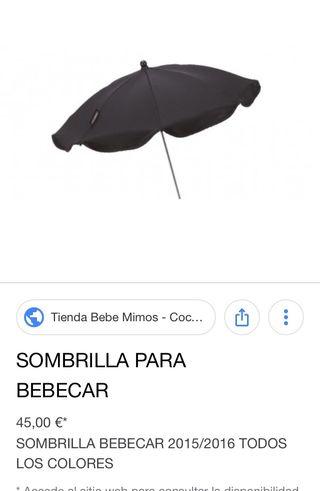 Sombrilla original bebecar negra