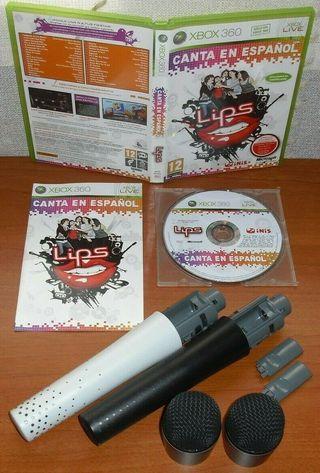 Lips Canta en Español + 2 micrófonos, Xbox 360 ESP