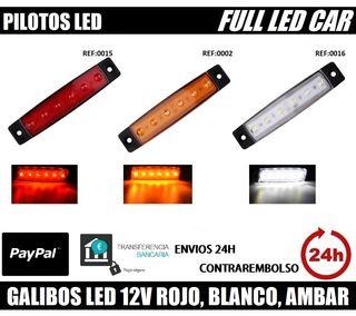 GALIBOS 6 LED 12V ROJO BLANCO AMBAR CAMION REMOLQU