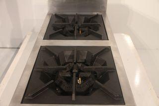 Cocina 2 fuegos sobremesa vertical 36x81x40 cm