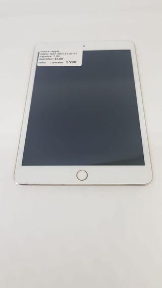"iPad mini 3- 7.9"" 16GB-WiFi+funda y cristal regalo"