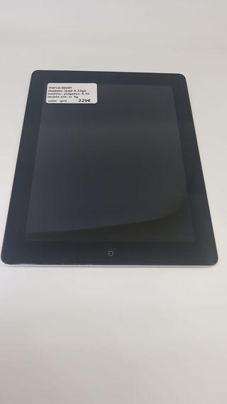 """iPad 4 9.7""""32GB-WiFi+sim4G+funda y cristal regalo"""