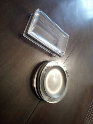 caja cristal tabaco puros y cenicero