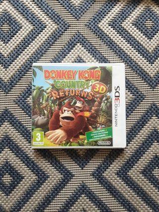 Videojuego Donkey Kong Country Returns Nintendo