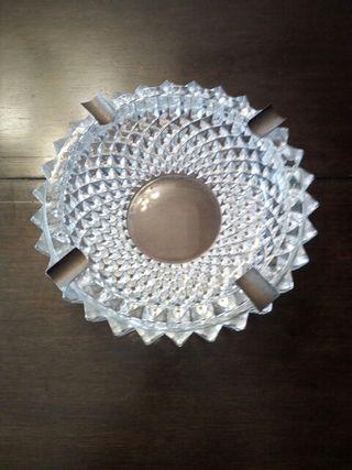 cenicero cristal-plata