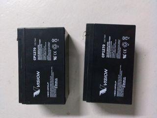 2 x Bateria 12v 12 v 7ah SAI UPS PATINETE MOTO 7