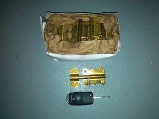 caja 20 cerrojos, pasadores de latón (no latonado)