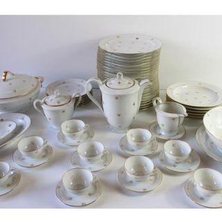 Antigua vajilla de porcelana de limoges 64 piezas