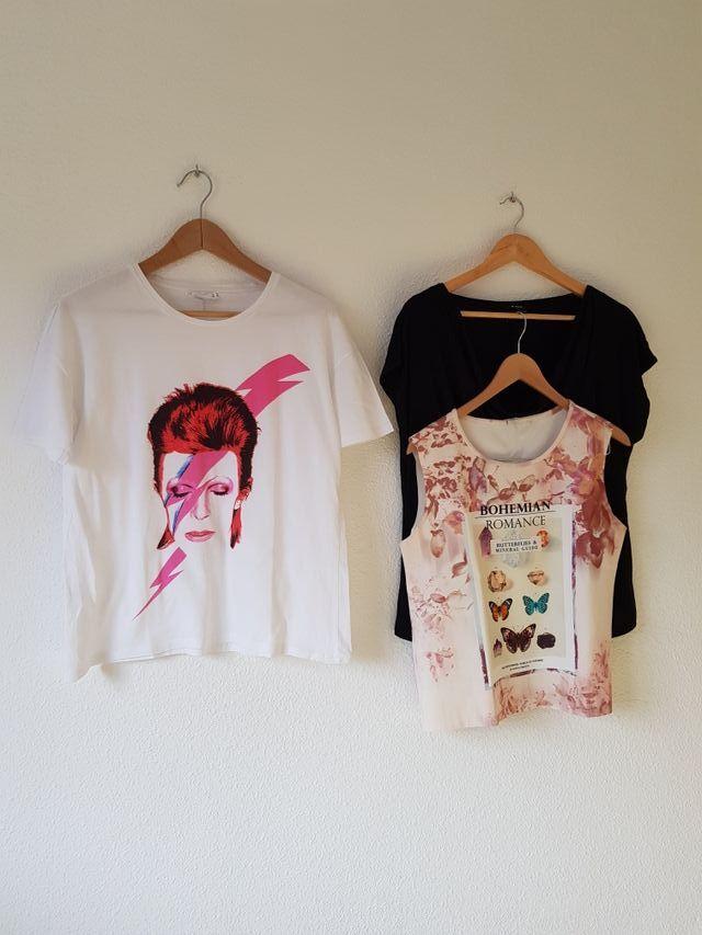 Lote de 3 camisetas T.M Stradivarius Mango y lefti