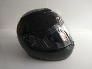 Casco integral de moto negro talla L