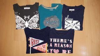 Lote 5 camisetas manga larga 6 años