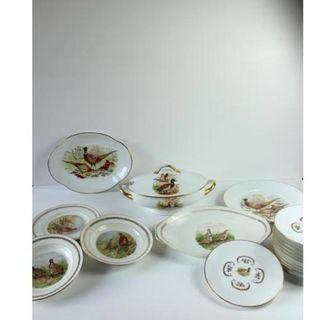 Antigua vajilla de porcelana francesa Limoges