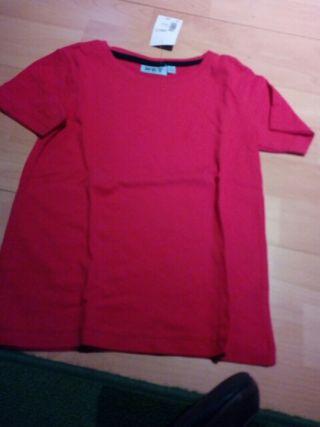 camiseta roja nueva niños