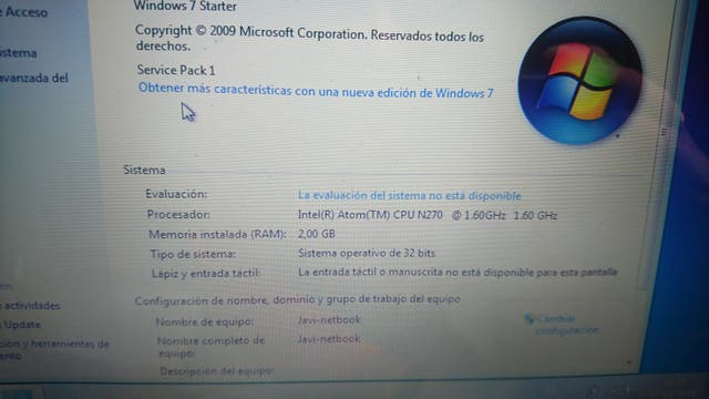 Acer Aspire One D250 2gb Ram SSD