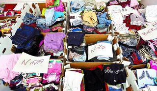 Unos 500 kilos de ropa