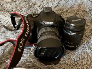 Canon eos 600d con 18/55 original Canon y filtro