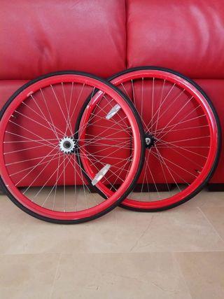 Ruedas bici fixie 700c
