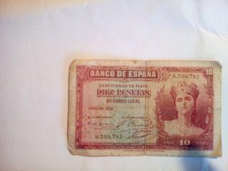 billetes antiguas