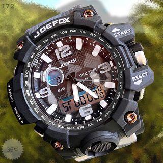 Reloj militar camuflado negro gris