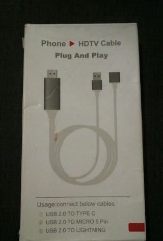 Phone to HDMI Cable / Teléfono a HDTV Cable