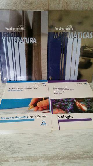 Libros Pruebas Acceso CFGS